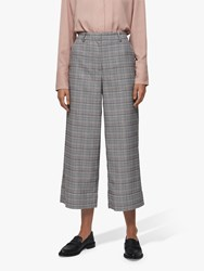 Selected Femme Stella Cropped Trousers Black Multi