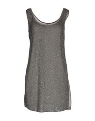 Angelina Folies Short Dresses Steel Grey