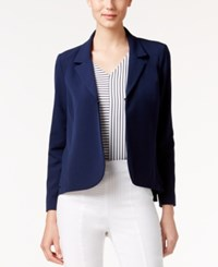 Alfani Mixed Media Blazer Only At Macy's Navy Nautical
