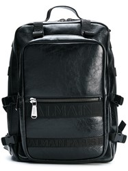 Balmain Military Style Backpack Black