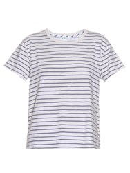 Velvet By Graham And Spencer Henni Striped T Shirt White Stripe