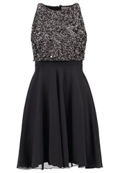 Lace And Beads Lotus Cocktail Dress Party Dress Dark Grey