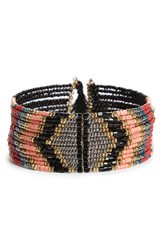Sole Society Women's Beaded Cuff Pink Multi
