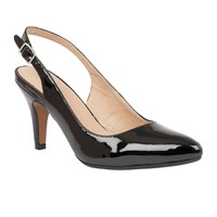 Lotus Nadia Sling Back Courts Black