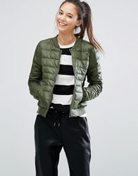 Only Padded Bomber Jacket Riffle Green