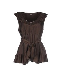 19.70 Nineteen Seventy Topwear Tops Women Dark Brown