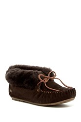 Emu Moonah Faux Fur Slipper Brown