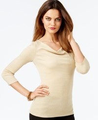 Inc International Concepts Draped Cowl Neck Top Only At Macy's Gold