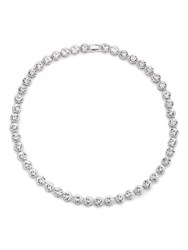 Jacques Vert Circle Stone Necklace Silver Metallic