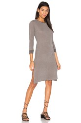 Stateside Heather Stripe Midi Dress Gray