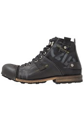 Yellow Cab Industrial Laceup Boots Black