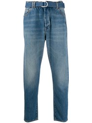 Off White Belted Slim Jeans 60