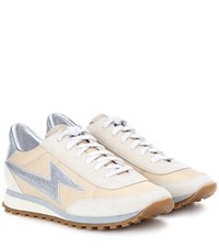 Marc Jacobs Astor Lightning Bolt Sneakers Beige