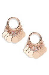 Argentovivo Argento Vivo Vermeil Frontal Drop Earrings Rose Gold