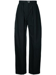 Christophe Lemaire Slouch Tailored Trousers Women Cotton 38 Black