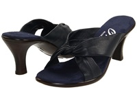 Onex Modest Navy Leather Women's Dress Sandals Blue