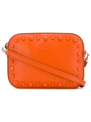 Tod's Small Studded Crossbody Bag Yellow And Orange