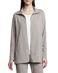 Eileen Fisher Organic Cotton Zip Jacket Petite