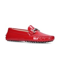 Tod's Patent Gommino Loafers Red