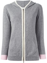 Chinti And Parker Colour Block Hoodie Grey