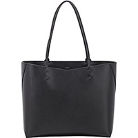 Valextra Women's Large Shopping Tote Black Blue Black Blue