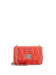 Valentino By Mario Valentino Noelle Quilted Leather Crossbody Bag Red