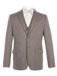 Racing Green Men's Lindean Taupe Speckle Jacket Taupe
