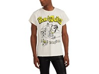Madeworn Gin And Juice Distressed Cotton T Shirt White