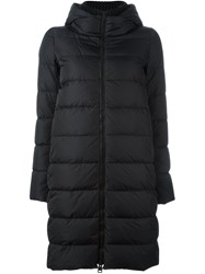 Herno Hooded Puffer Coat Black