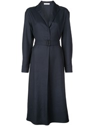 The Row Belted Waist Dress Blue