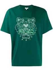 Kenzo Embroidered Tiger T Shirt Green