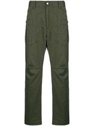 White Mountaineering Stretch Tapered Cargo Trousers Green