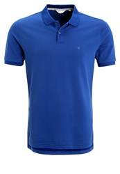 Ck Calvin Klein Pete Fitted Polo Shirt Blue Royal Blue