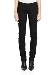 Givenchy Leather Star Skinny Jeans Black