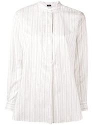 Joseph Striped Tunic Blouse White