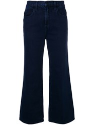 J Brand Cropped Flared Jeans Blue