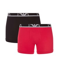 Armani Stretch Cotton Boxer Briefs Pack Of 2 Red