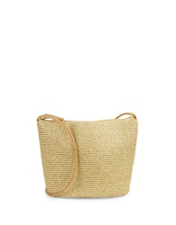 Magid Shimmering Straw Crossbody Bag Gold
