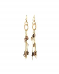 Nakamol Smoky Quartz Dangle Earrings Brown