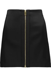 Rag And Bone Nettie Satin Wool Blend Mini Skirt Black