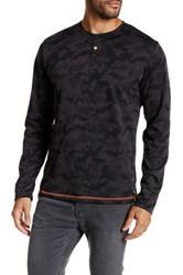 Smash Long Sleeve Camo Knit Shirt Black