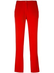 Emporio Armani Slim Fit Trousers Red