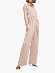 French Connection Enid Crepe Jumpsuit Maple Sugar