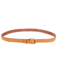 Labour Of Love Tan Leather Skinny Belt Brown