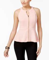 Thalia Sodi Peplum Top Only At Macy's Coral Cielo