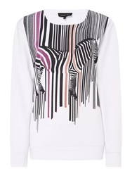 Label Lab Barcode Zebra Sweat White