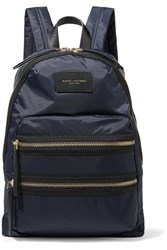 Marc Jacobs Biker Leather Trimmed Shell Backpack Midnight Blue