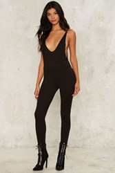 Open Back Policy Plunging Jumpsuit 72105