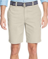 Club Room Men's Flat Front Shorts Only At Macy's Sand Villa