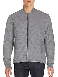 Sovereign Code Sotelo Long Sleeve Quilted Jacket Grey